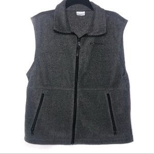 Columbia Men's Gray Collared Zipper Vest Medium